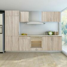 Keukenkastjes voor inbouwkoelkast (eikenlook / 7-delig) keuken kast kastjes set