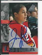 Autographed 1997 Pinnacle #17 Jerome Iginla Calgary Flames Hockey card