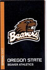2007 OREGON STATE BEAVERS SPRING POCKET SCHEDULE