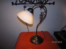 Art Deco Tisch Lampe Arbeits Kontor Leuchte Glas Schirm Vintage 20er 30er Jahre Lampen 1920-1949, Art Déco