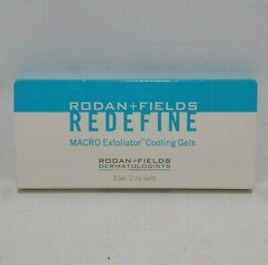 Rodan and + Fields Redefine Macro Exfoliator Cooling Gels 6 Gels 2ml each Sealed