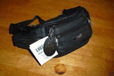 Ladies Black Cowhide Real Leather Waist/Bum Bag From  Lorenz New And Tagged