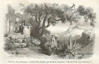 A5076 Ischia - Veduta - Figurata - Xilografia - Stampa del 1843