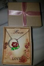 - Rose Love Silver Necklace Brand New In Gift Box