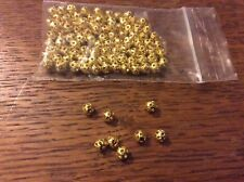 Gold tone filigree  spacer beads approx 4mm x 100