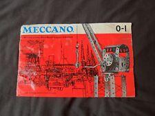 VINTAGE Meccano Set 0/1 manuale dal 1962