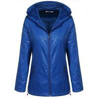 Women Fashion Waterproof Long Sleeve Lightweight Raincoat Jacket BTL8