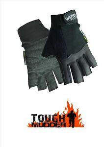 Raptor Elite Padded Tough Mudder/Event 3/4 Fingered Gloves: XS/S/M/L/XL/XXL