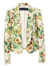 Zara multicoloured orange green white blazer jacket size S 6  8   NEW