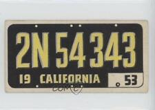 1953 Topps License Plates #5 California Non-Sports Card 0n8
