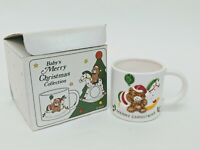 Lillian Vernon Babys Merry Christmas Collection Small Mug In Box Vtg Japan 1984
