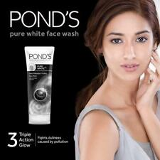 POND'S Pure White Anti-Pollution Purity Face Wash With Activated Charcoal 2x50gm