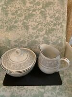 IMPERIAL CHINA WHITNEY SUGAR BOWL AND CREAMER SET