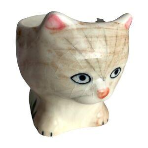 Vintage CC HP Cat Design Ceramic Egg Cup