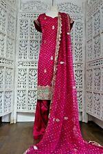 Fuchsia pink silk Indian salwar kameez UK Size 20  / EU 46 – SKU16739