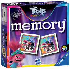 20590 Ravensburger Trolls 2 World Tour Mini Memory Games Age 3 Years+
