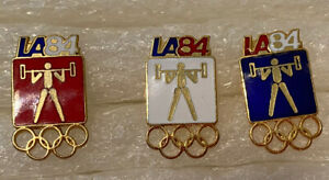 1984 Olympic pin 3 weightlifting pins