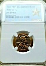 2019-W NGC MS 69 RED LINCOLN SHIELD CENT PENNY .1C  FIRST W CENT STAR LABEL