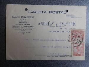 TARJETA PUBLICITARIA VALENCIA ANDRÉS Y FUSTER MUEBLES AÑO 1940