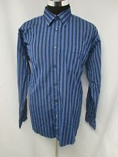 Ben Sherman Blue Striped Button Up Dress Shirt Sz XL 17.5-34/35