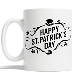 Happy St Patricks Day Mug Coffee Cup Gift Idea Irish Lucky Man Woman Kid JA82