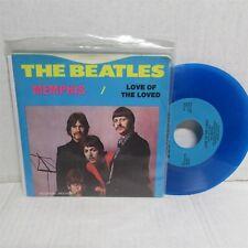 "THE BEATLES Memphis / Love Of The Loved 7"" BLUE VINYL Deccagone 1102"