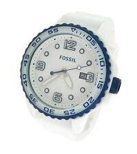 NEW FOSSIL WHITE SILICONE DATE 50M MENS WATCH CE5013