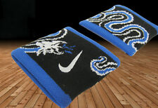 New Nike Inter Milan Football Club Cotton Wristbands Sweatbands Black Blue