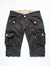 """LEVIS Cargo/Utility + Pockets Charcoal Striped Pedal Pushers 3 (30"""" x 14"""")"""
