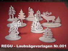 """+ REGU - Laubsägevorlagen Nr.001  """"Weihnachtsdeko mit sieben erzgebirg. Motiven"""""""