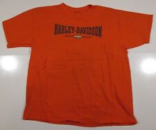 Harley Davidson Short Sleeve T Shirt Mens L Large 2001 Las Vegas Nevada Orange