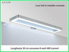 Luce LED per specchio da bagno lampada faretto bordo cm 30 arredo design moderno