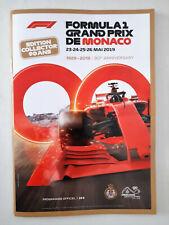 Programme du Grand Prix de Formula 1 / F1 de Monaco 2019 (french-english)