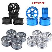 4PCS Metal Alloy Wheel Rim for 1/10 HSP 94122 94123 CS D4 TT02 Drift On Road Car