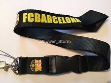 Cordón de Negro Amarillo Barcelona Nueva Correa de Llavero ID titular de vendedor de Reino Unido