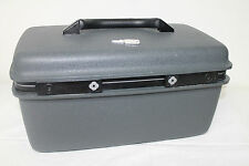 Vintage Samsonite Advantage SSL -Train Case -Make Up Case - Gray Black With Key