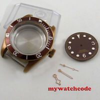41mm sterile coffee PVD Solid Steel Case Set for ETA 2824 2836 movement C103