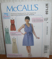Womens/Misses Learn To Sew Dresses Sewing Pattern/McCall's M7159/SZ XS-M/UCN
