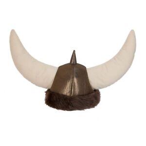 Viking Helmet Fancy Dress Nordic Warrior Adults Mens Ladies Viking Soft Helmet
