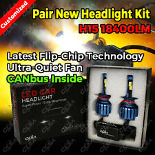 H15 18400LM 160W LED CAR HEADLIGHT KIT HIGH LOW BEAM REPLACE HALOGEN XENON