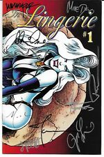 Lady Death in Lingerie #1 Signed by 9 Brian Pulido Joseph Michael Linsner Chaos!