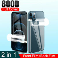 Soft Hydrogel Film Screen Back Protector For iPhone 12 Pro Max 12 Mini 11 XR X 8