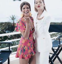 Zara Fuchsia Ruffled Printed Jumpsuit Playsuit Dress Size XS/S/M/L/XL - BNWT