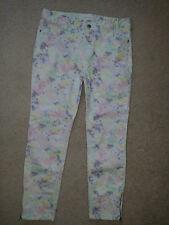 """Gerard Darel Multi White Skinny Stretch Twill Ankle Zip Jeans Sz.38  (30""""/24,5"""")"""