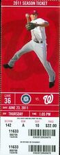 2011 Nationals vs Mariners Ticket: Jim Riggleman final game as manager