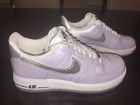 New Nike Air Force 1 07 Low Oxigen Purple Sneaker Shoes Size US 7.5