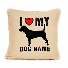 More details for gift for dog beagle cushion personalised unique present for dog lovers