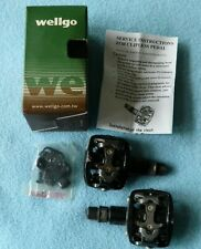 Wellgo (Shimano SPD Compatible) Clipless Pedals with Cleats WPD-823 EUC