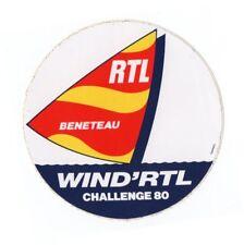 AUTOCOLLANT / STICKER  Vintage WIND RTL BENETEAU CHALLENGE 80 BATEAU / BOAT TOP