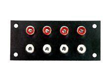2pc RCA Jack Audio Panel Set Nickel Plated 8P #3019 Taiwan ( PU Set ) 8 Channel